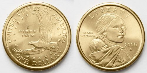 Железный доллар фото юбилейный